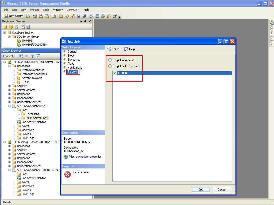 how to create job in sql server 2008
