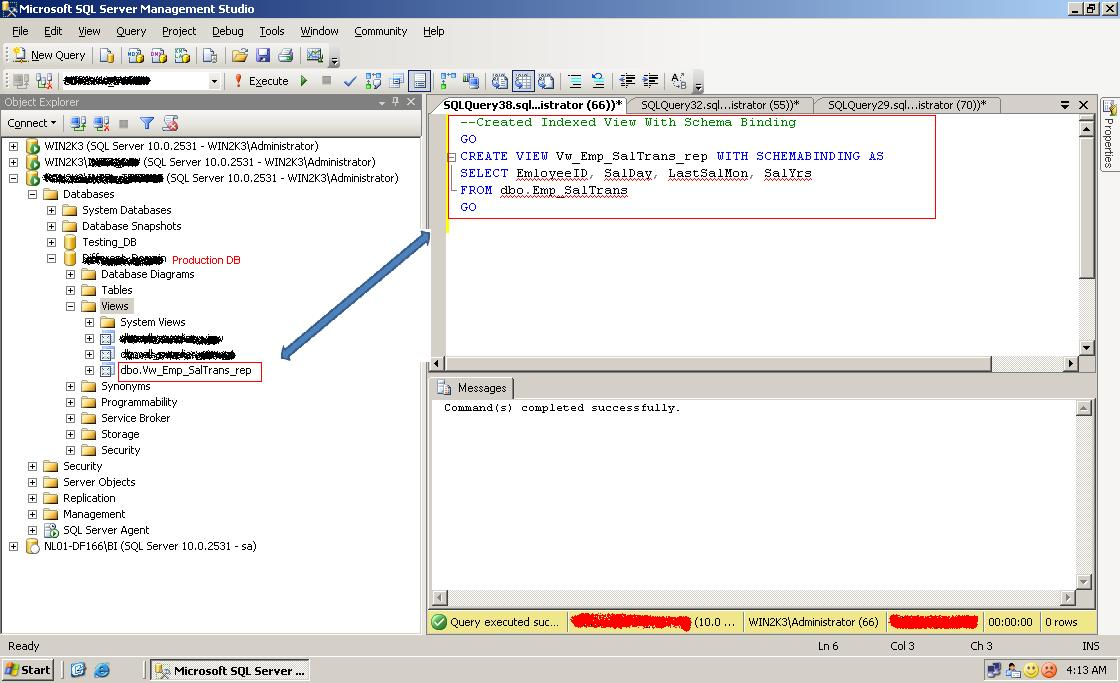 Replicate Indexed Views as Table (Transactional Replication